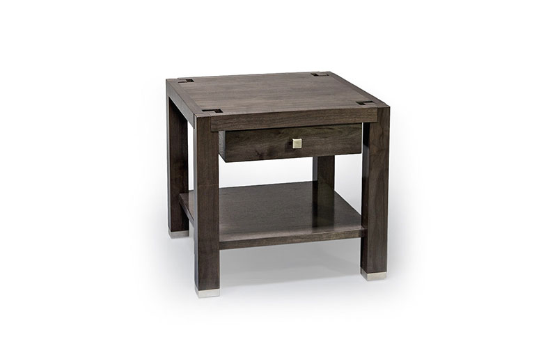 architrave side table with drawer and shelf
