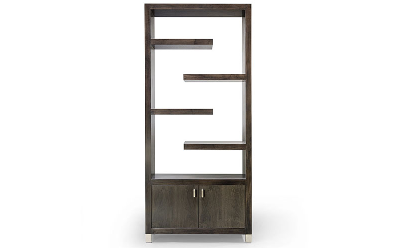 cantilever etagere with two doors