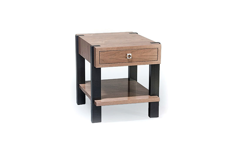 mezzanine side table with drawer